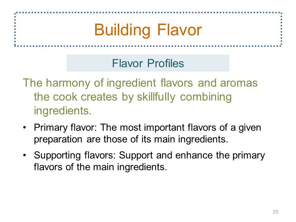 Building Flavor Flavor Profiles