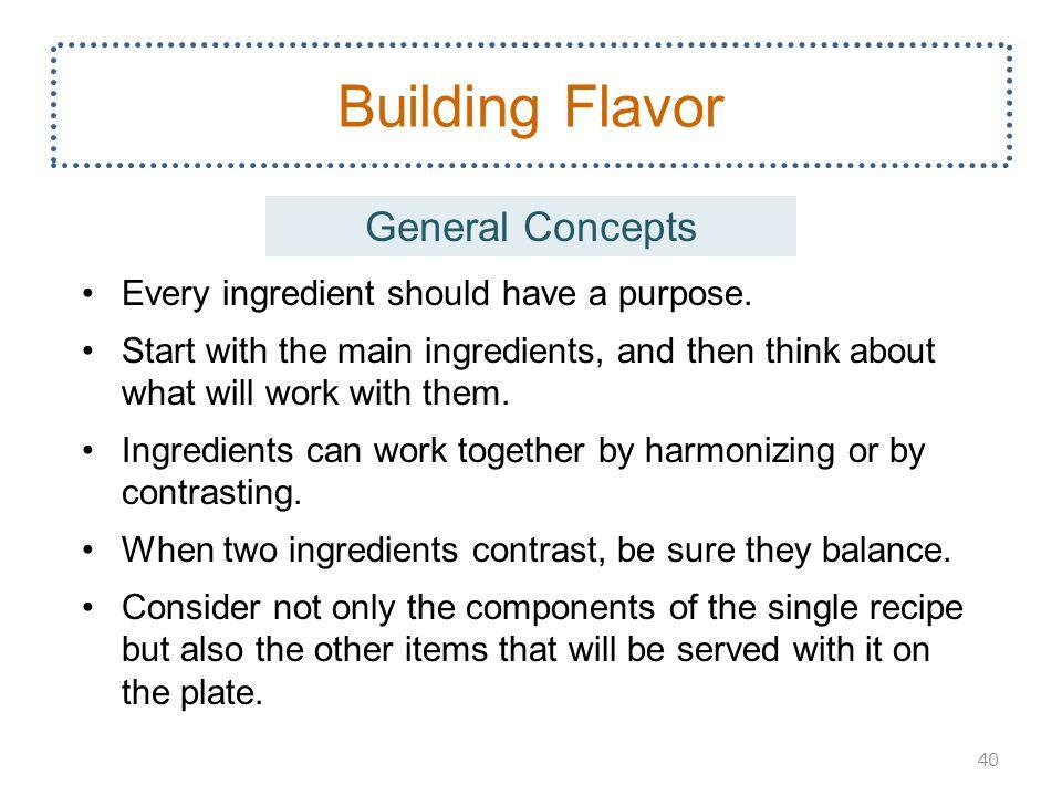Building Flavor General Concepts