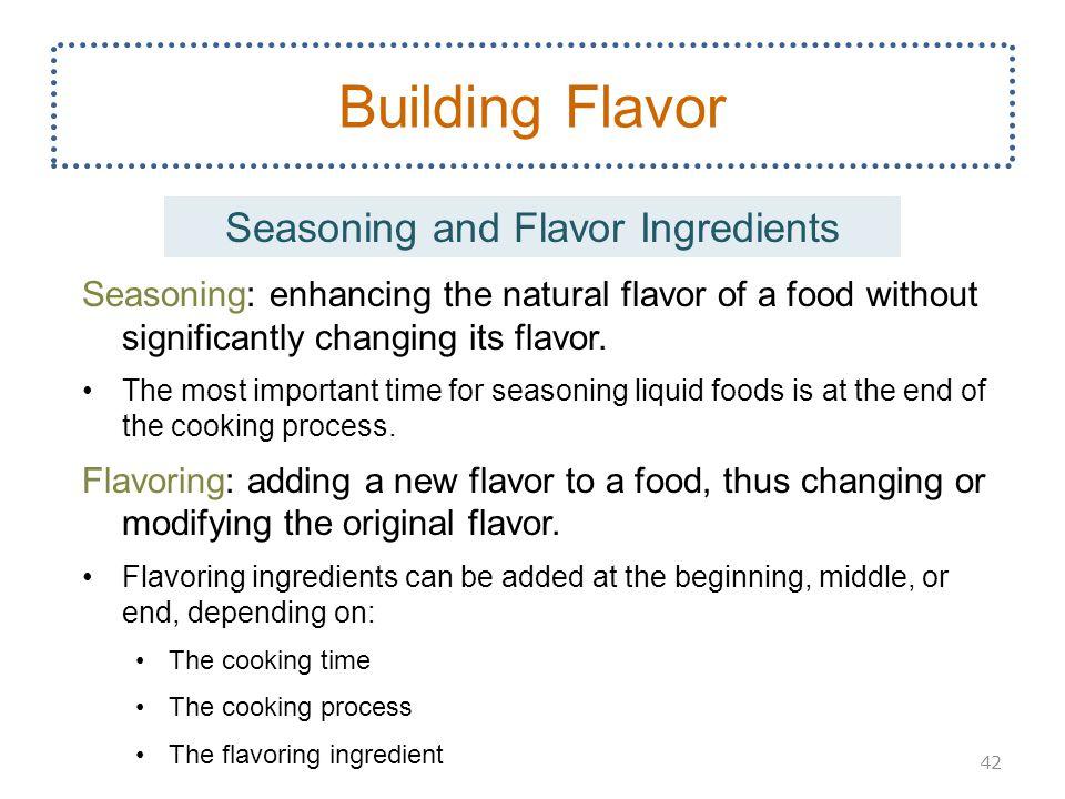 Seasoning and Flavor Ingredients