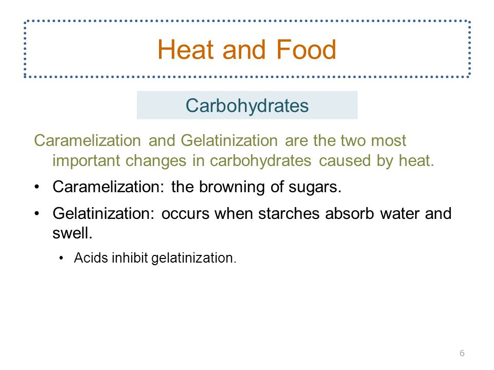 Heat and Food Carbohydrates