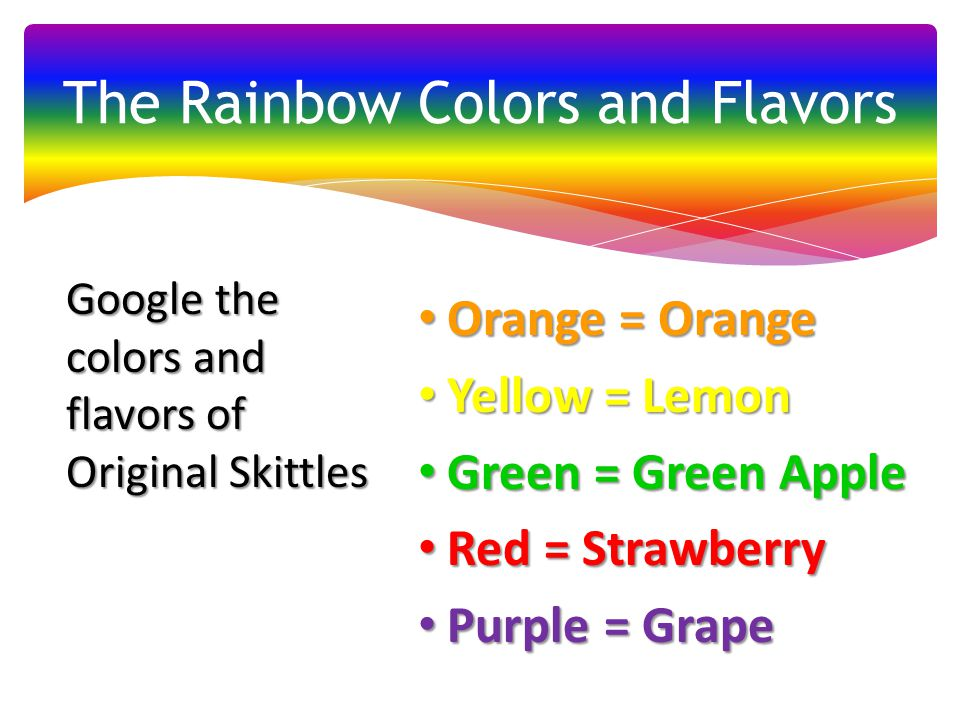 The Rainbow Colors and Flavors