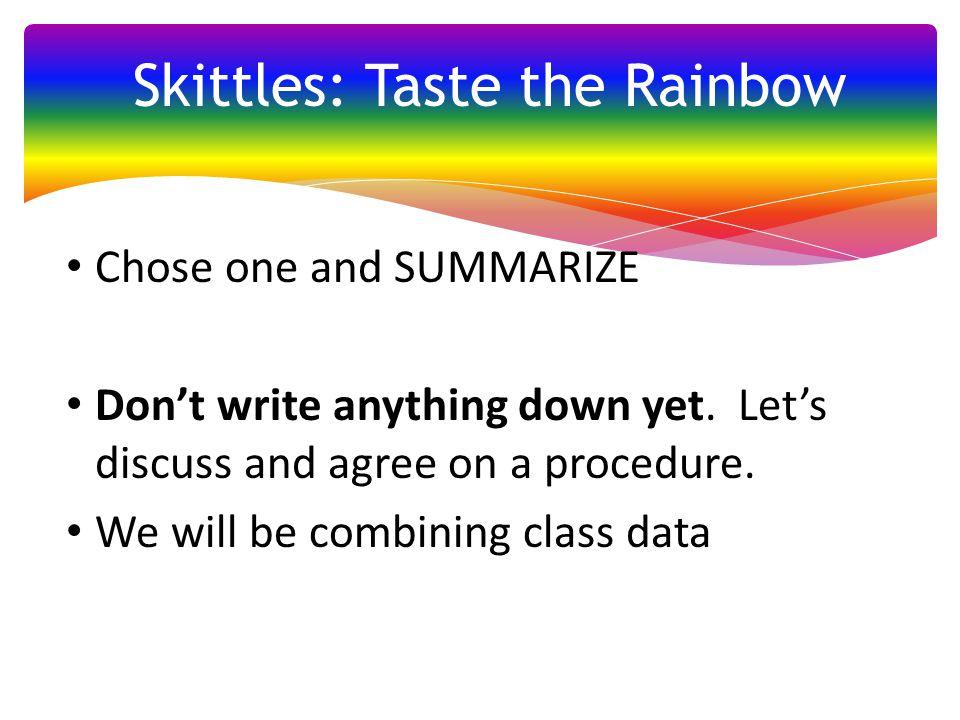 Skittles: Taste the Rainbow