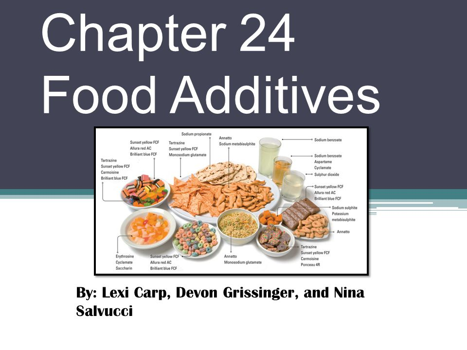 Chapter 24 Food Additives