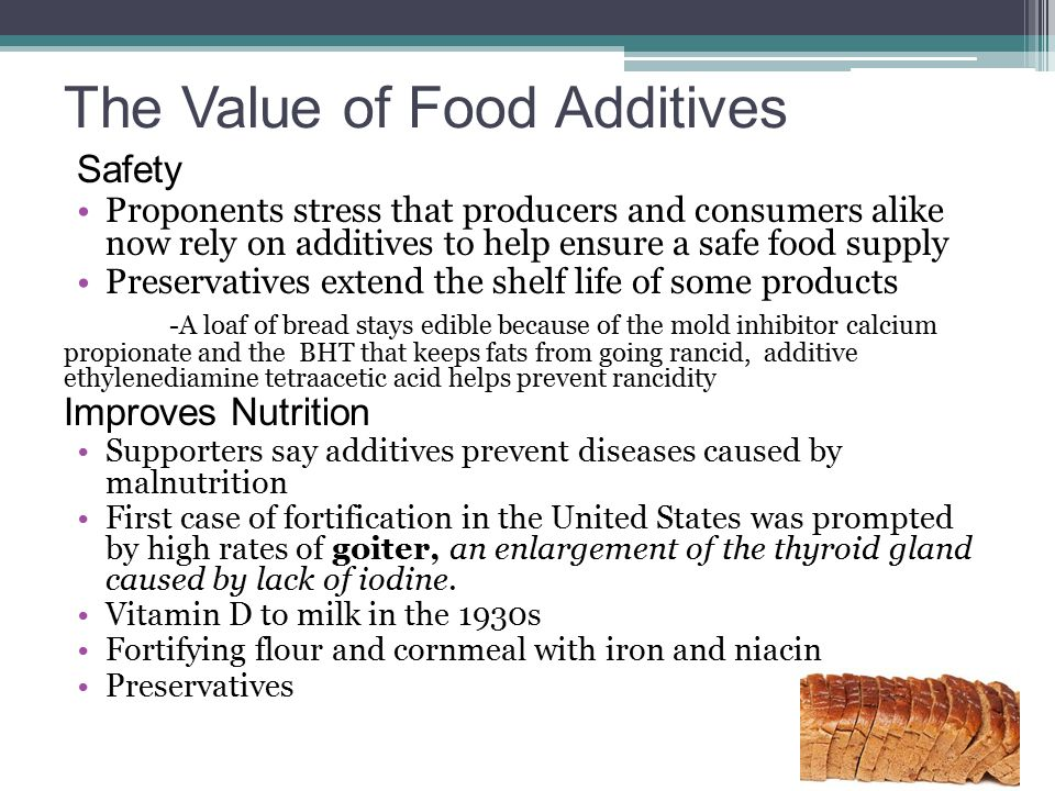 The Value of Food Additives