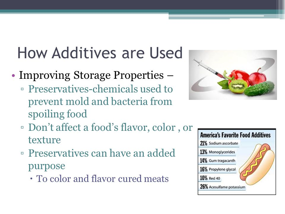 How Additives are Used Improving Storage Properties –