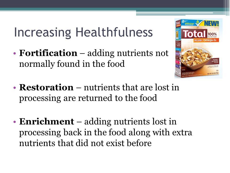Increasing Healthfulness
