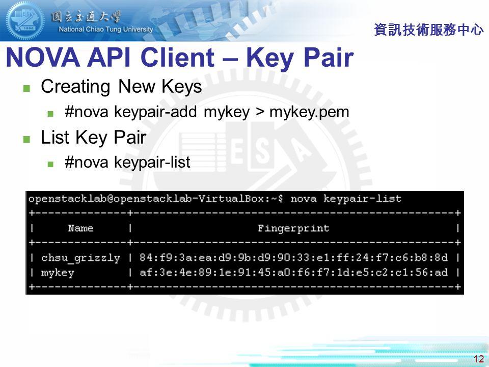 NOVA API Client – Key Pair