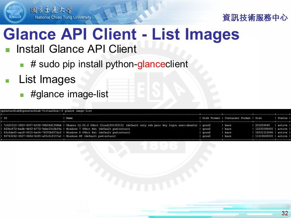 Glance API Client - List Images