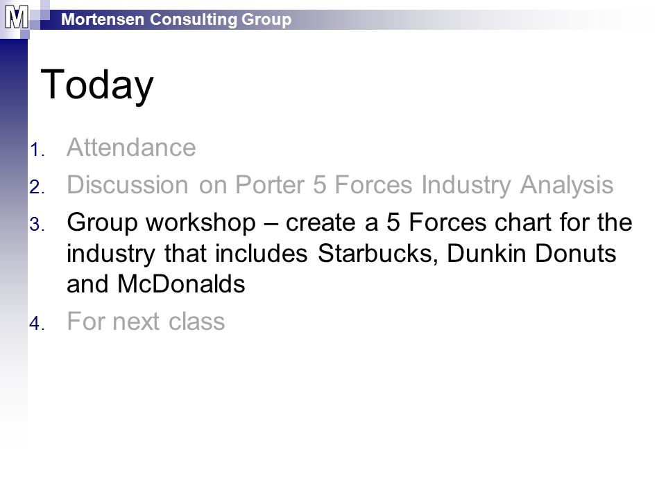 Today Attendance Discussion on Porter 5 Forces Industry Analysis
