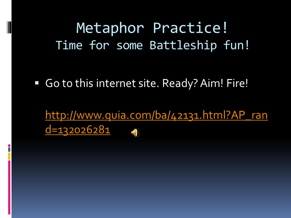 Metaphor Practice! Time for some Battleship fun!