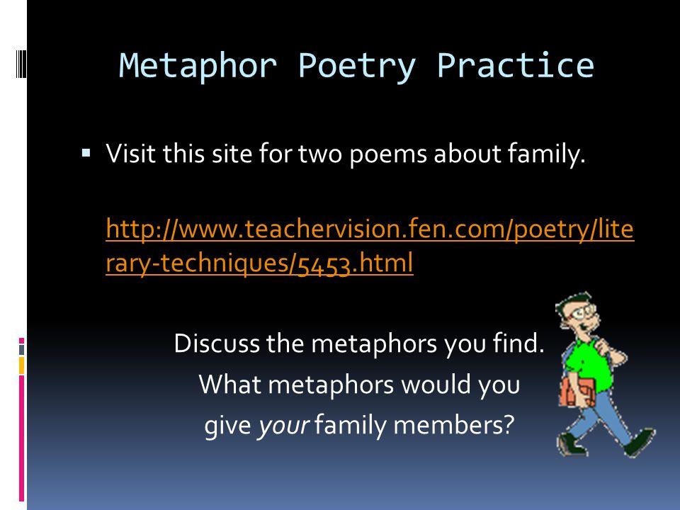 Metaphor Poetry Practice