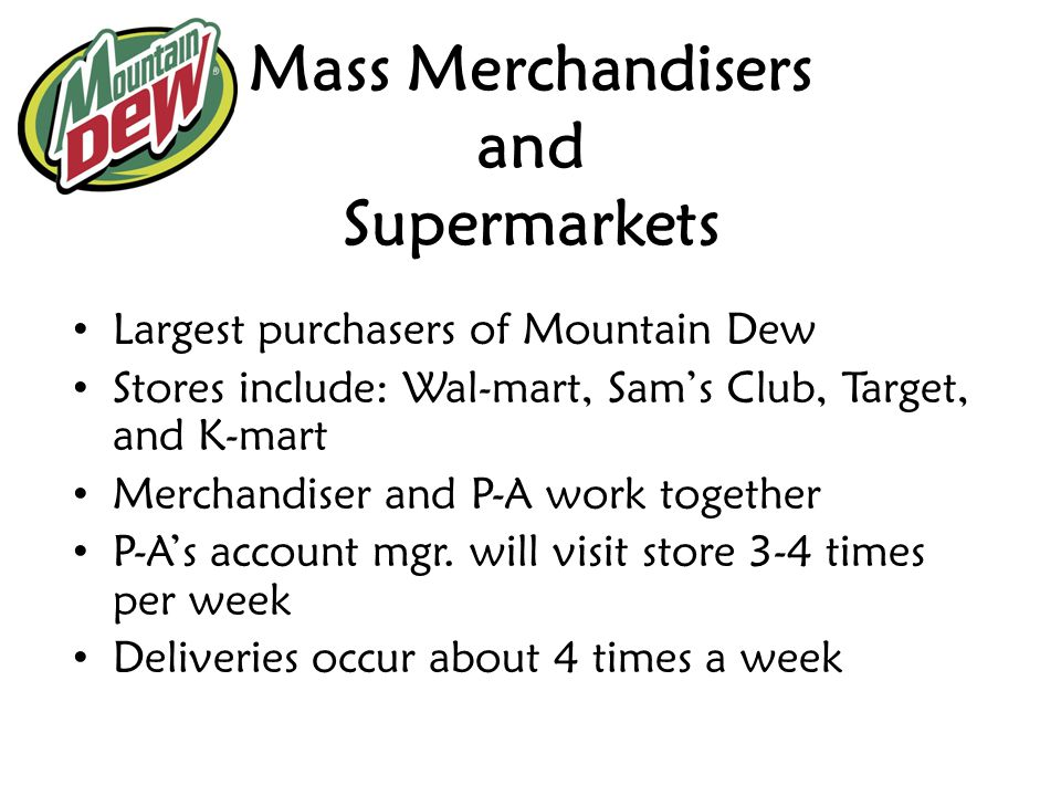 Mass Merchandisers and Supermarkets