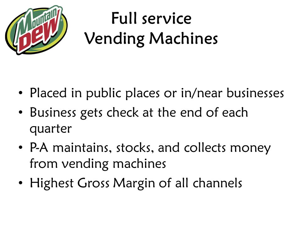 Full service Vending Machines