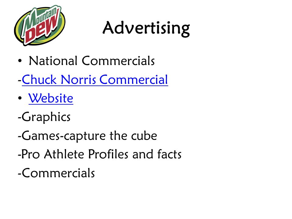Advertising National Commercials -Chuck Norris Commercial Website