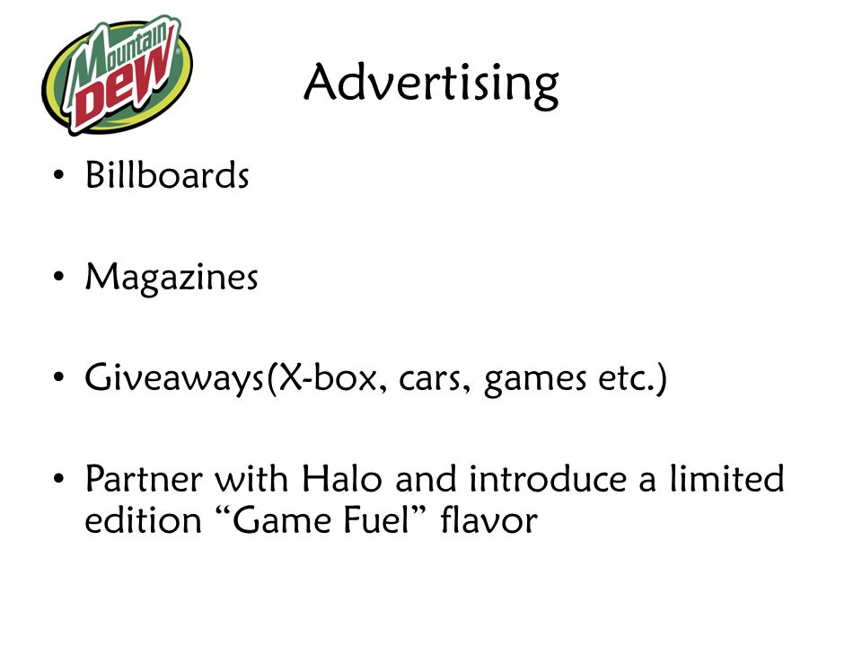 Advertising Billboards Magazines Giveaways(X-box, cars, games etc.)