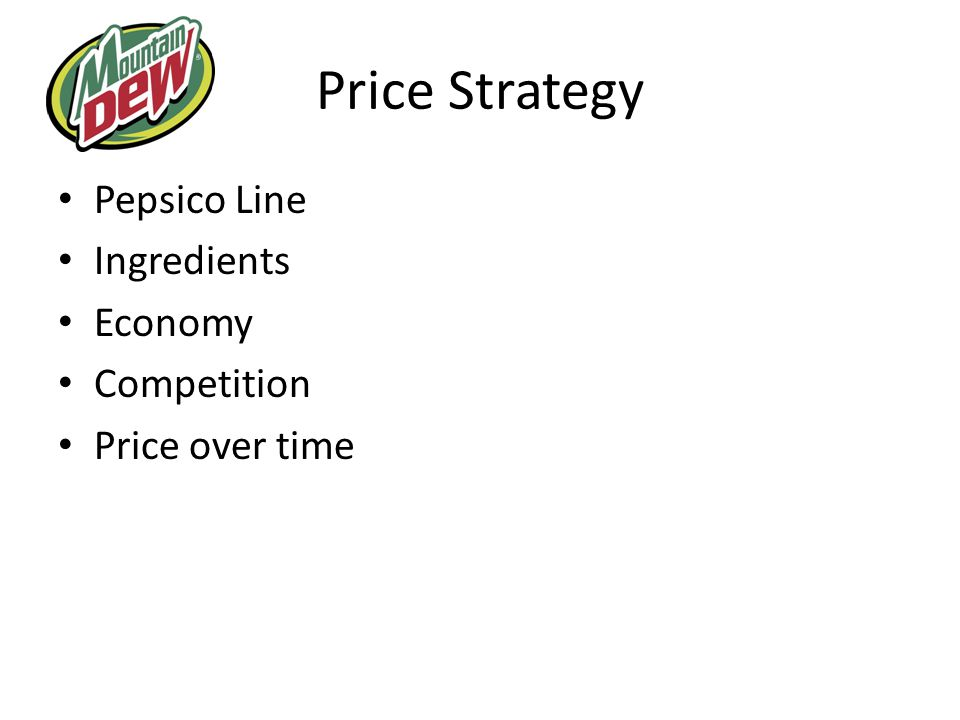 Price Strategy Pepsico Line Ingredients Economy Competition