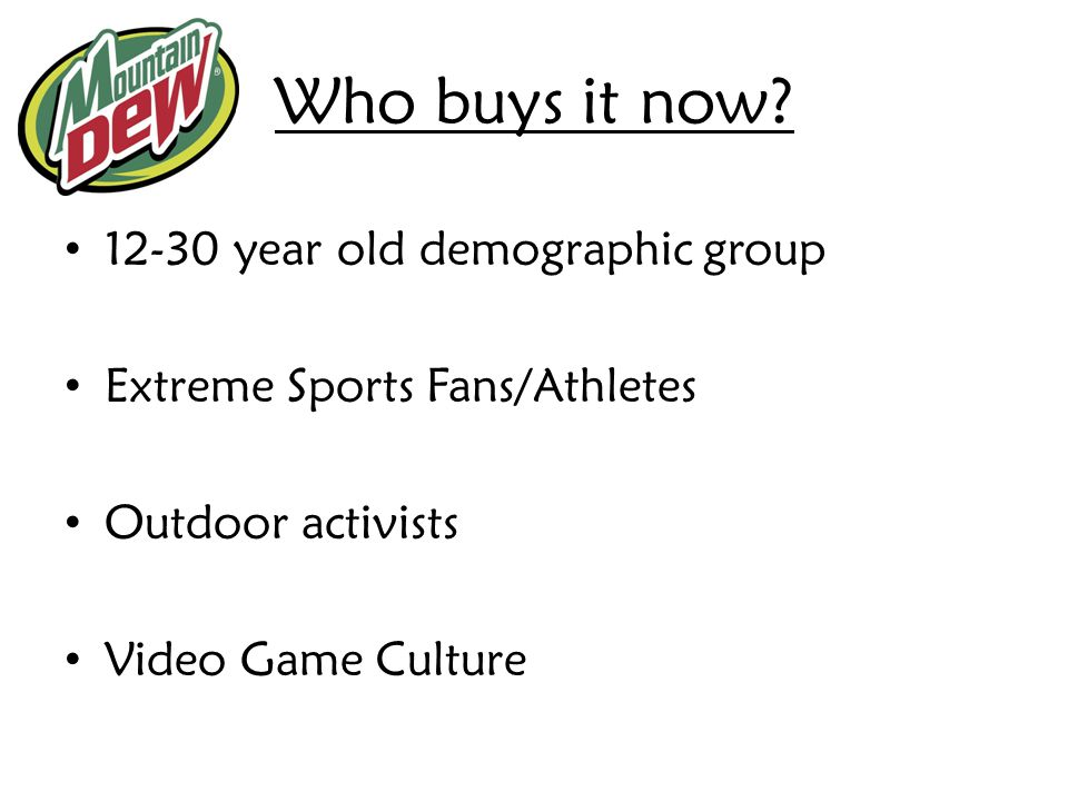 Who buys it now 12-30 year old demographic group