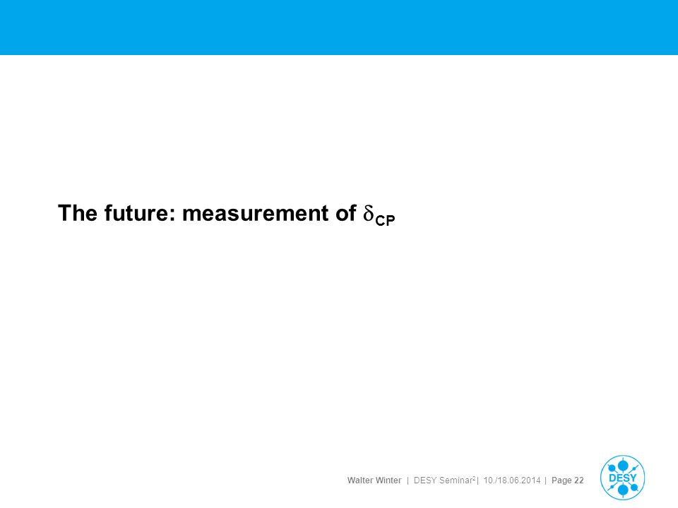The future: measurement of dCP
