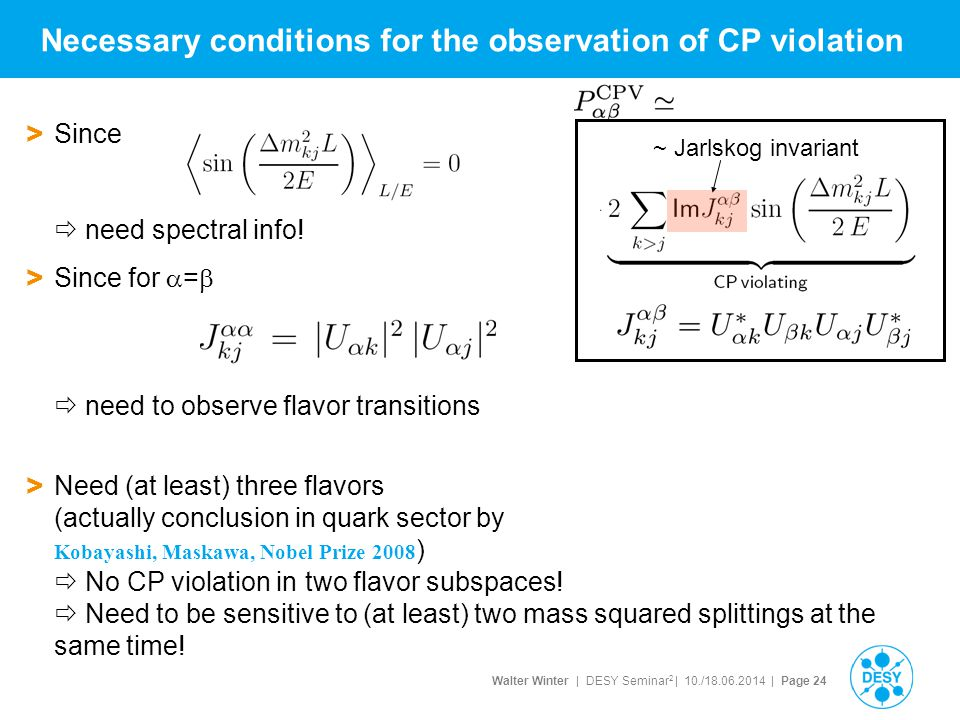 Necessary conditions for the observation of CP violation