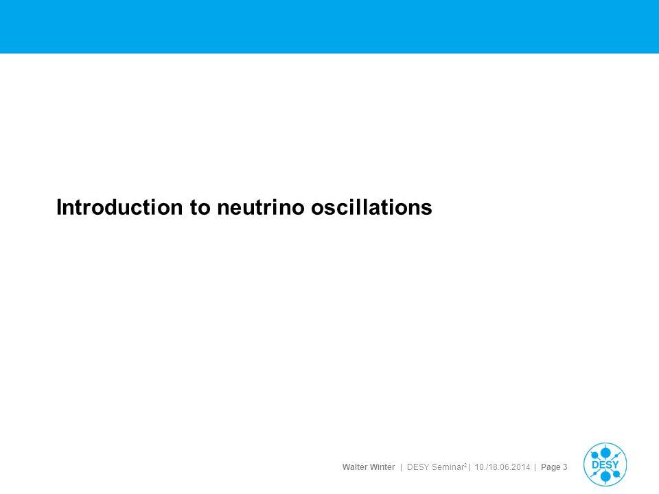 Introduction to neutrino oscillations