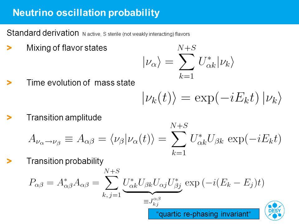 Neutrino oscillation probability