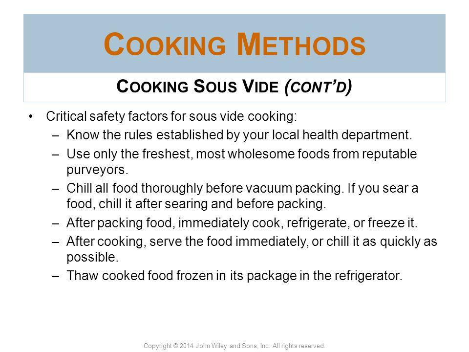 Cooking Sous Vide (cont'd)