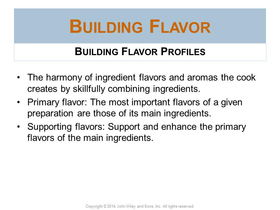Building Flavor Profiles