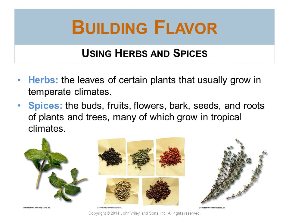 Building Flavor Using Herbs and Spices