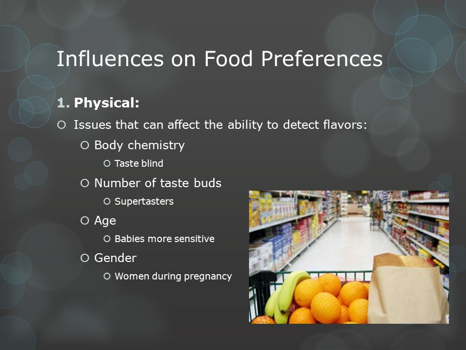 Influences on Food Preferences