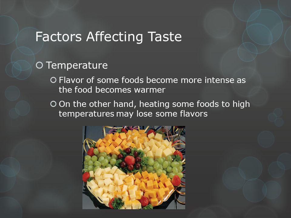Factors Affecting Taste