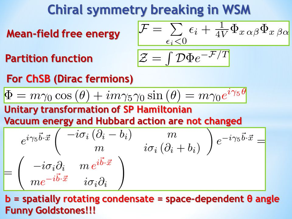 Chiral symmetry breaking in WSM