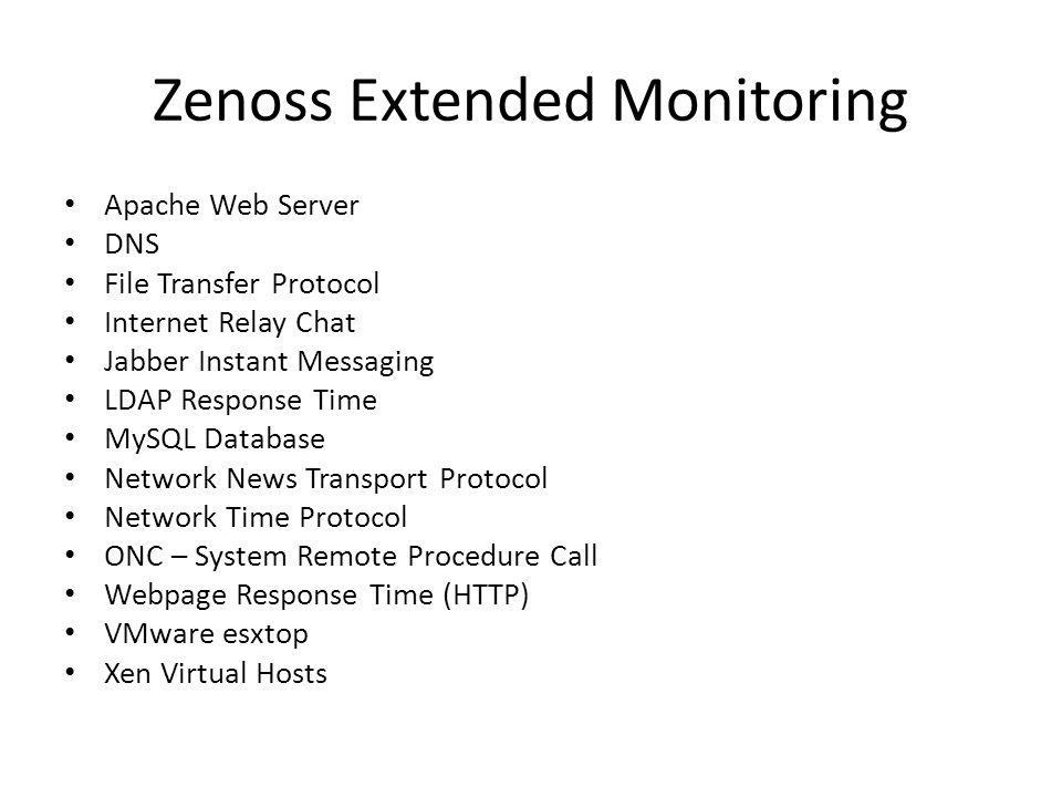 Zenoss Extended Monitoring