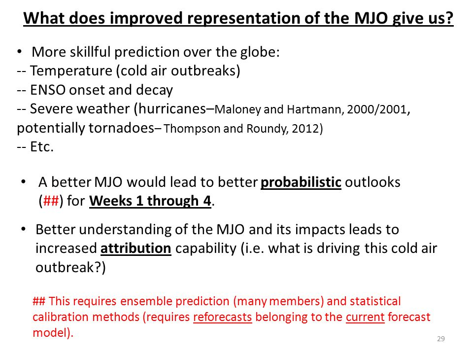 What does improved representation of the MJO give us