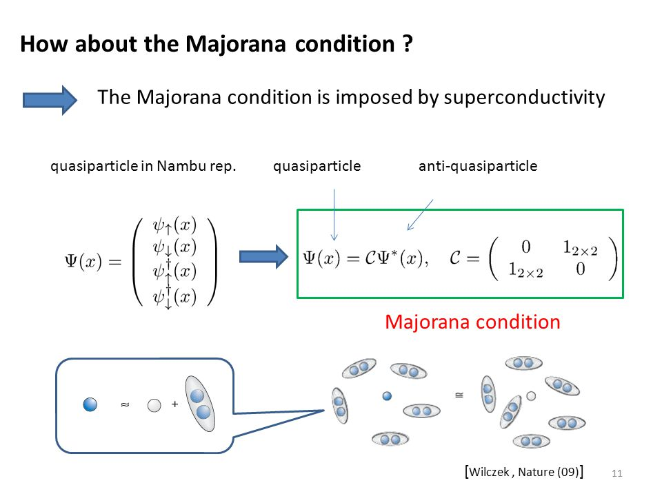 How about the Majorana condition