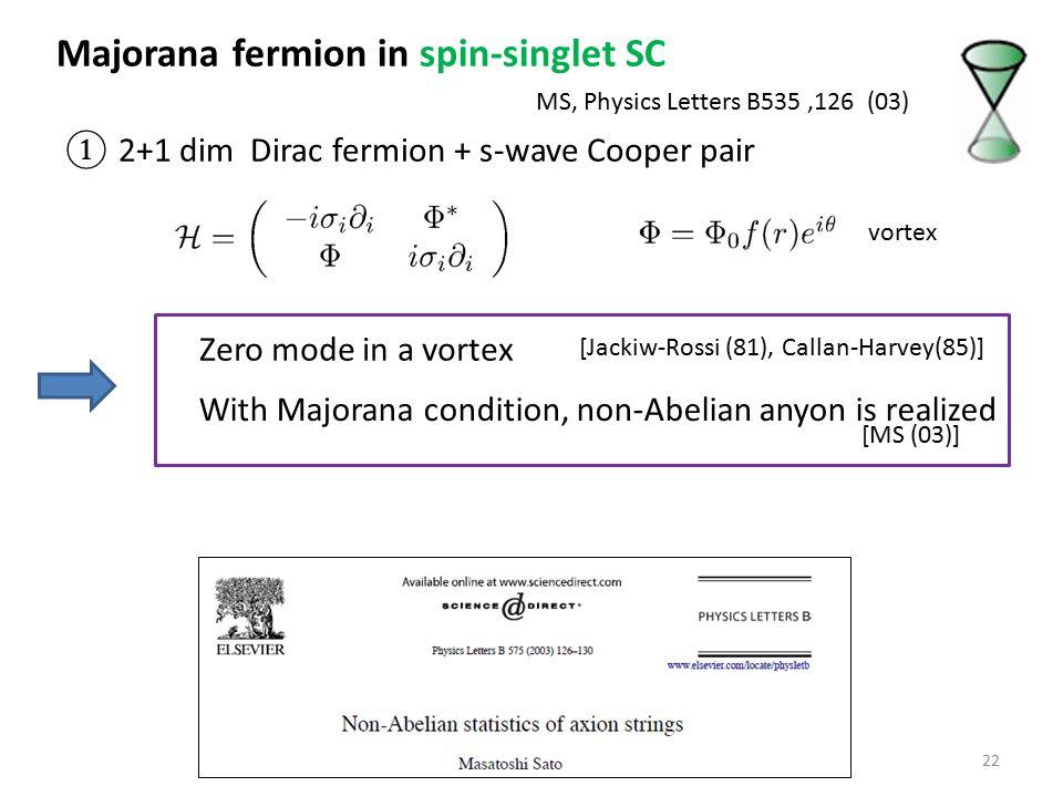 Majorana fermion in spin-singlet SC