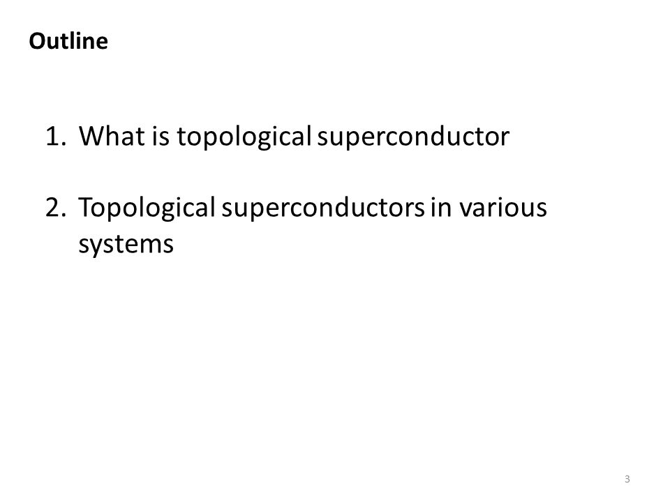 What is topological superconductor