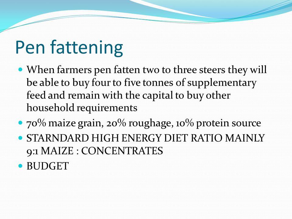 Pen fattening