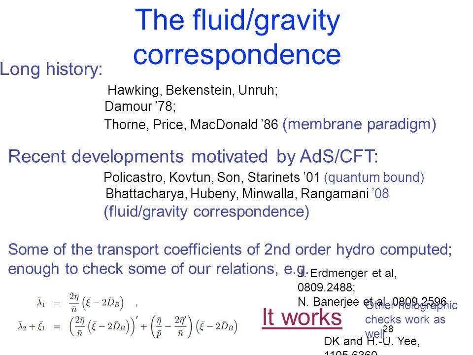 The fluid/gravity correspondence