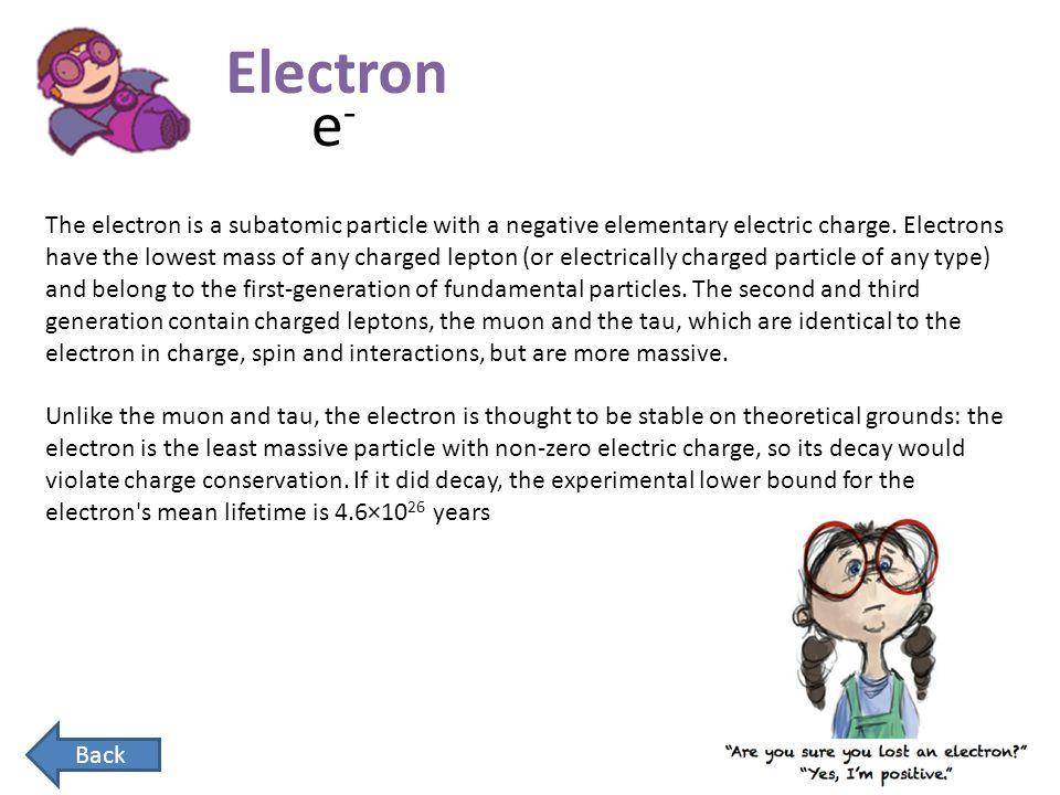 Electron e-