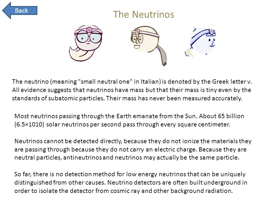 Back The Neutrinos.