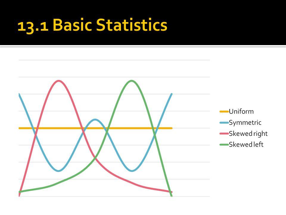 13.1 Basic Statistics