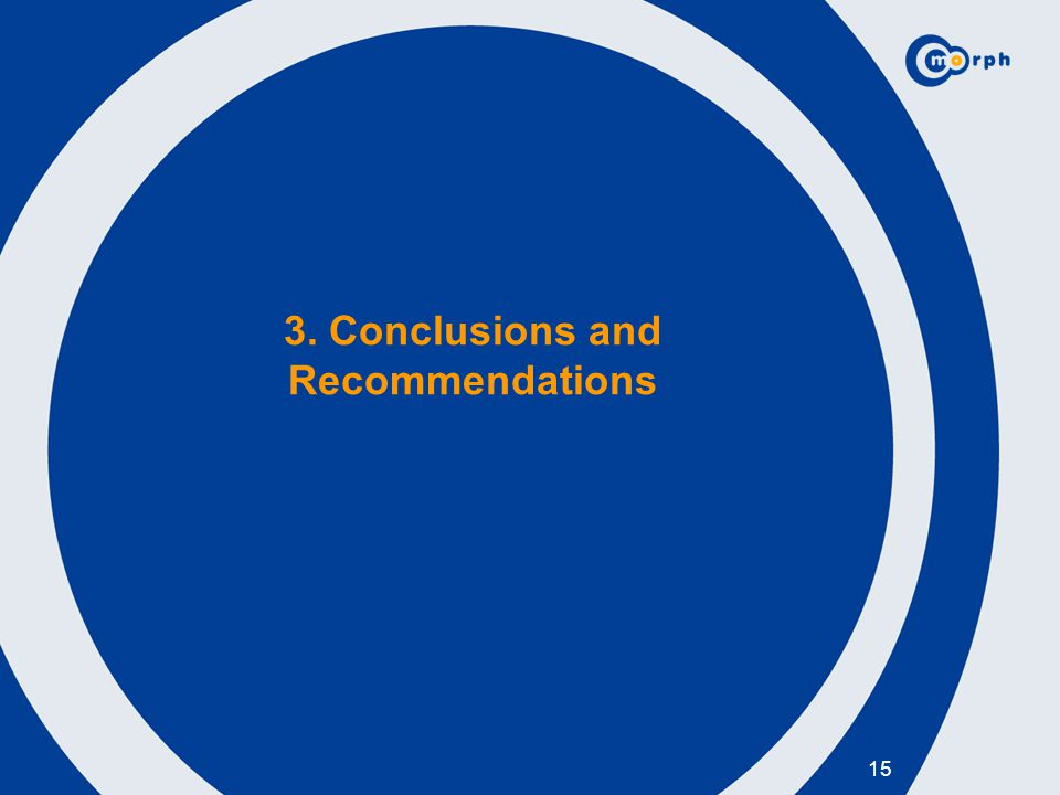 3. Conclusions and Recommendations