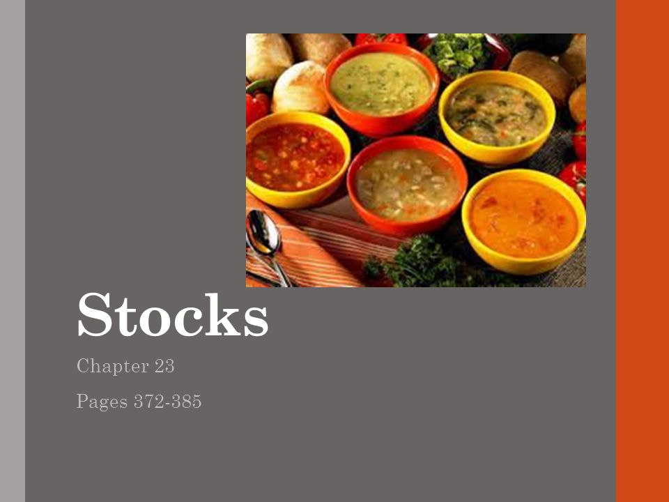 Stocks Chapter 23 Pages 372-385