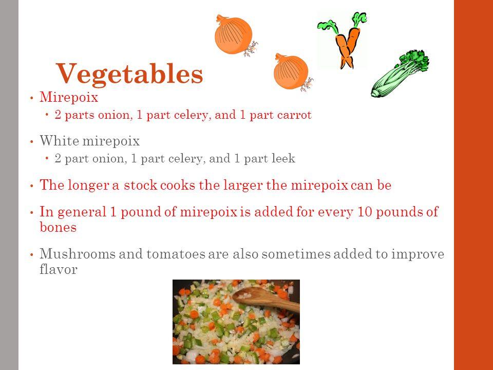 Vegetables Mirepoix White mirepoix
