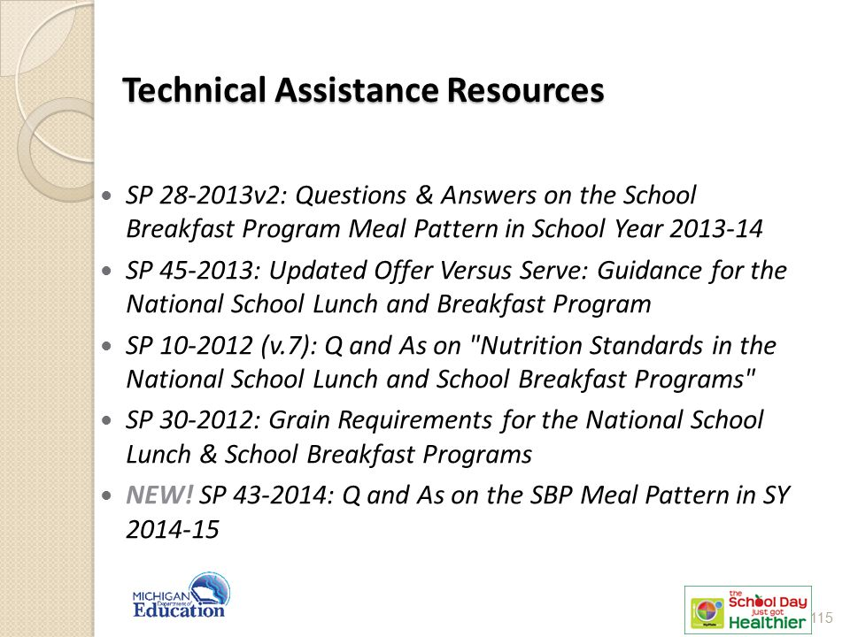 Technical Assistance Resources