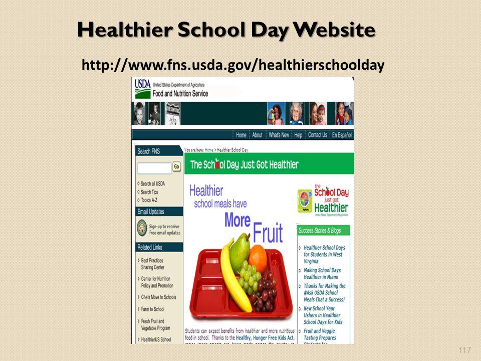 Healthier School Day Website