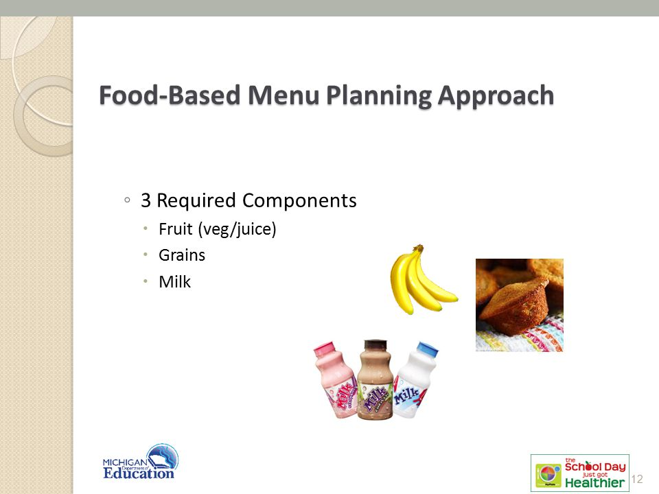 Food-Based Menu Planning Approach