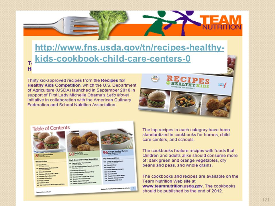 http://www.fns.usda.gov/tn/recipes-healthy-kids-cookbook-child-care-centers-0