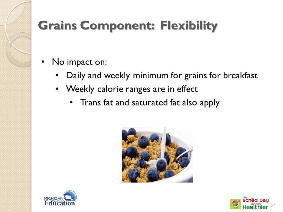Grains Component: Flexibility