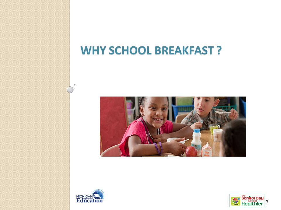 Why school BREAKFAST Let's talk about why breakfast is so important. 3